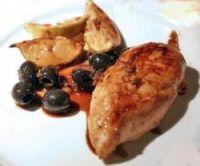Hendlbrüste mit Oliven und Honig